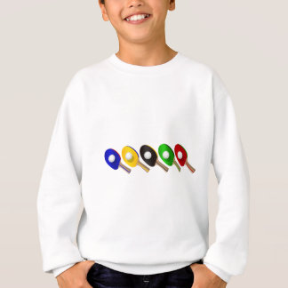 Table Tennis Bat and Ping Pong Ball Sports Sweatshirt