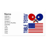 Table Tennis Double-Sided Standard Business Cards (Pack Of 100)