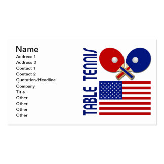 Table Tennis Business Cards