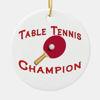 Table Tennis Champion Christmas Tree Ornaments