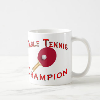 Table Tennis Champion Coffee Mug