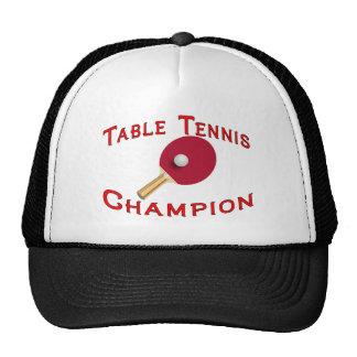 Table Tennis Champion Hats