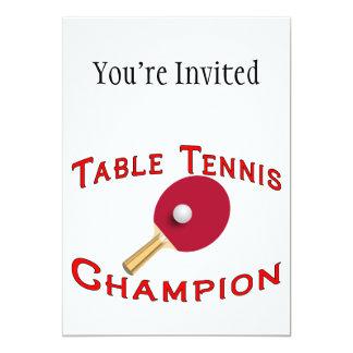 Table Tennis Champion Custom Announcement