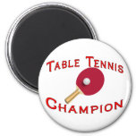 Table Tennis Champion Magnet