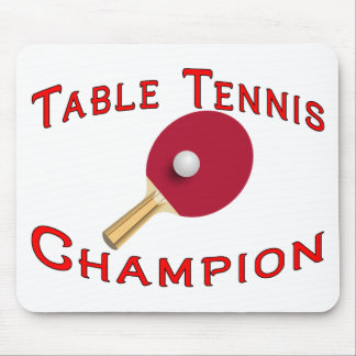 Table Tennis Champion Mouse Mats
