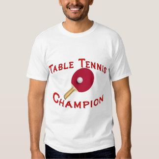 Table Tennis Champion T Shirt