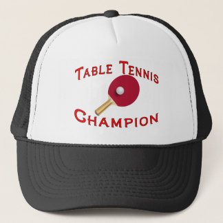 Table Tennis Champion Trucker Hat