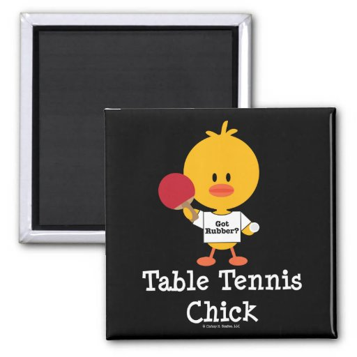 Table Tennis Chick Magnet