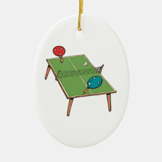 Table Tennis Christmas Ornament