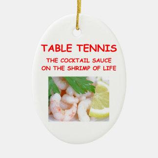 table tennis christmas ornament