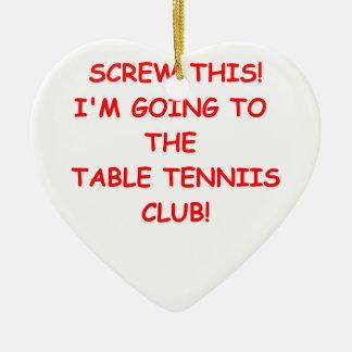 table tennis christmas ornaments