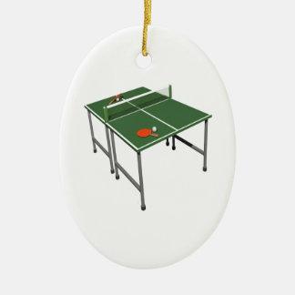 Table Tennis Christmas Tree Ornament