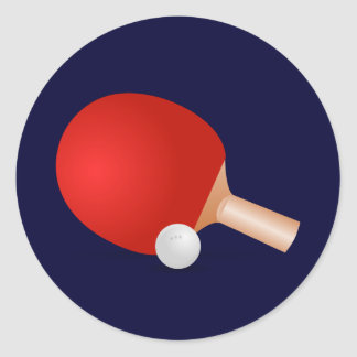 Table Tennis Classic Round Sticker