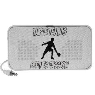 Table tennis designs speaker system