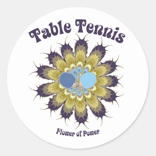 Table Tennis Flower of Power Sticker