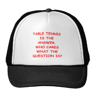 table tennis hats