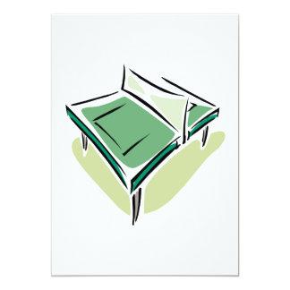 Table Tennis 5x7 Paper Invitation Card