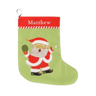 table tennis large christmas stocking
