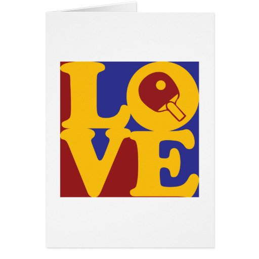 Table Tennis Love Greeting Cards