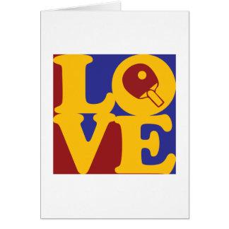 Table Tennis Love Greeting Card