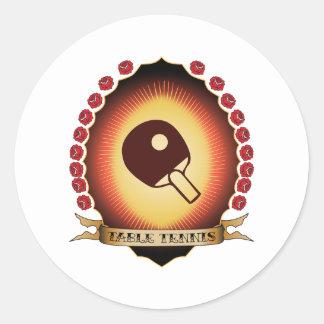 Table Tennis Mandorla Round Sticker
