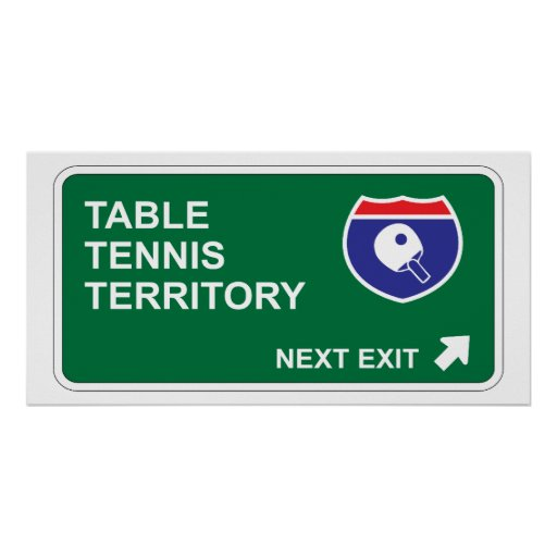 Table Tennis Next Exit Posters