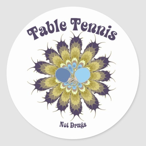 Table Tennis Not Drugs Sticker