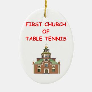 table tennis ornaments
