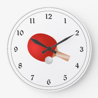 Table Tennis, Paddle and Ball Wall Clock