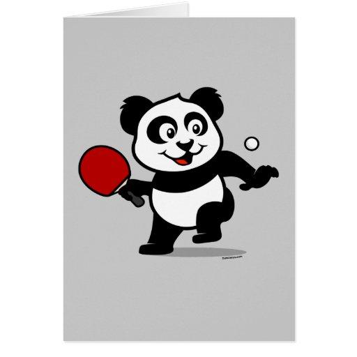 Table Tennis Panda Cards