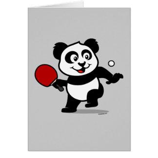 Table Tennis Panda Greeting Card