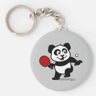 Table Tennis Panda Key Ring
