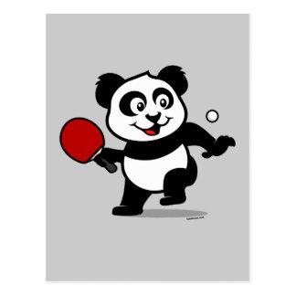 Table Tennis Panda Postcards