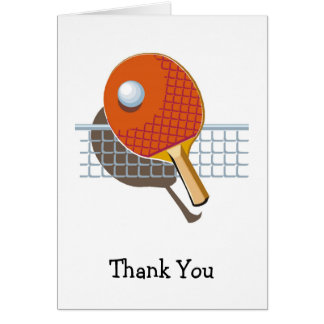 Table Tennis Ping Pong Thank You Cards