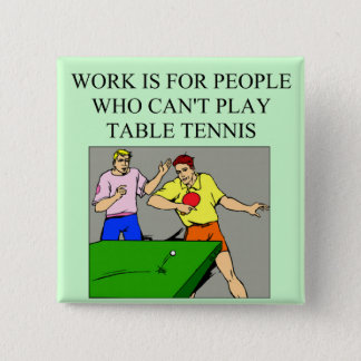 table tennis player 15 cm square badge