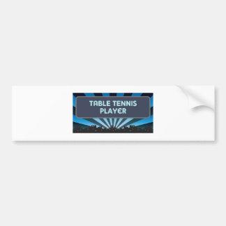 Table Tennis Player Marquee Bumper Sticker