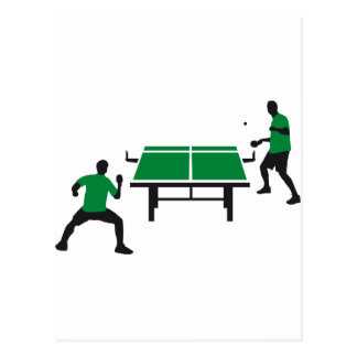 table tennis postcard