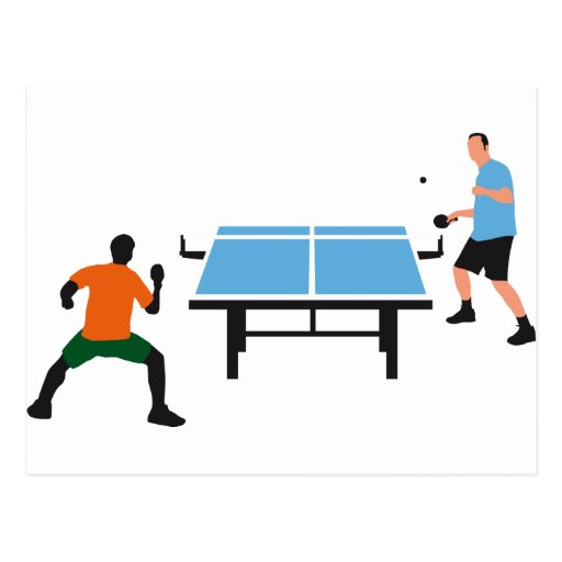 table tennis postcards