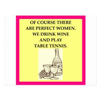table tennis postcard