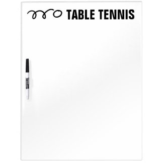 Table tennis scoreboard and training equipment Dry-Erase whiteboard