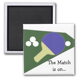 Table Tennis Square Magnet