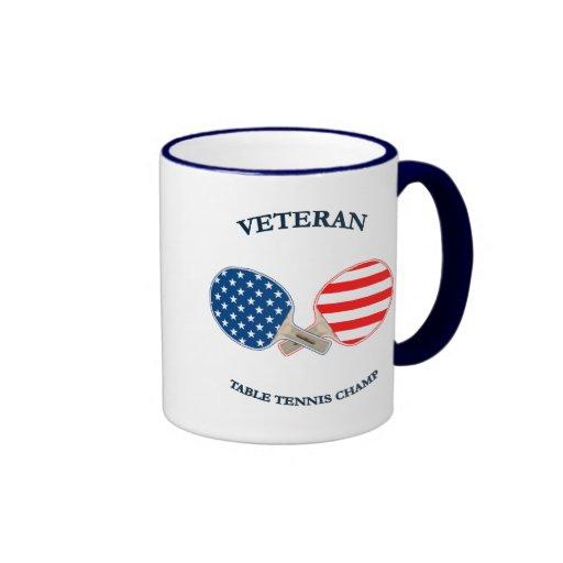 Table Tennis Veteran Mugs
