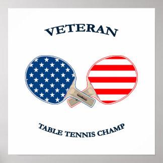 Table Tennis Veteran Print