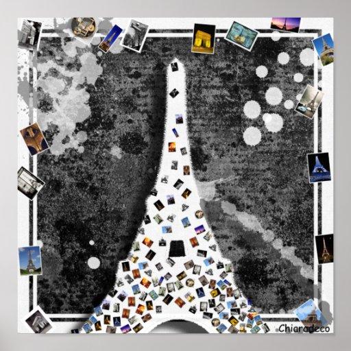 tableau toile paris design moderne tour eiffel posters