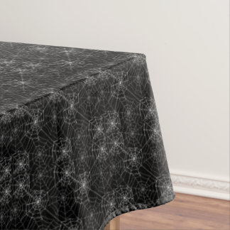 "Tablecloth ""60x84"" -Halloween Spider Webs"