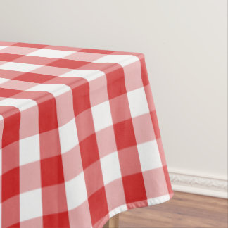 """Tablecloth """"60x84"""" Red Checkerboard"""