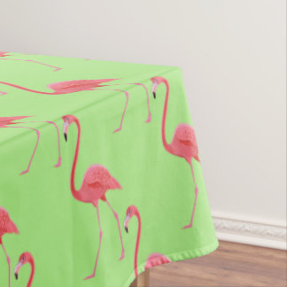 "Tablecloth ""60x84"" Tropical Pink Flamingo"