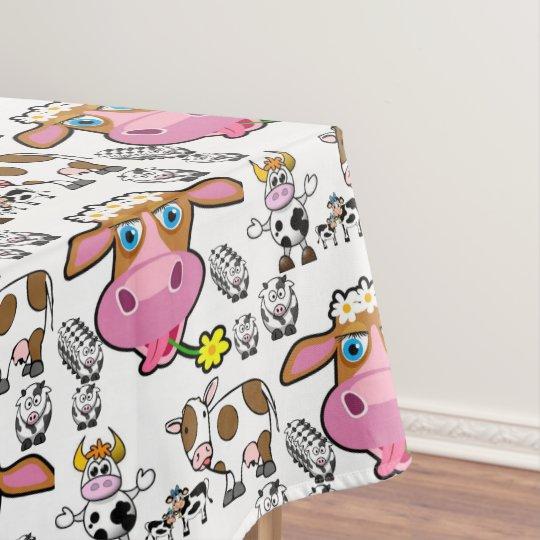 Tablecloth Cows