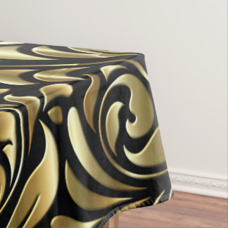 Tablecloth - Drama in Black and Gold