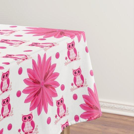 Tablecloth Floral Owl